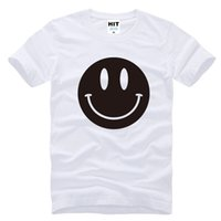 acid t shirts - Cute Acid Smiley Face Printed Mens Men T Shirt New Short Sleeve O Neck Cotton Casual T shirt Tee Camisetas Hombre