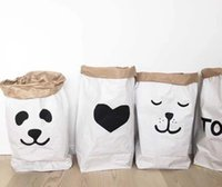 beverage recycled bag - 61x32x16CM designs Kraft Laminated bags recycle Laundry Toy Organizer Paper Storage bag Home