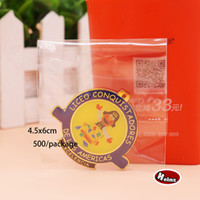 Wholesale 4 cm Transparent plastic sealing bag accessories bag Clothes Magazines Food Packaging Self adhesive Bag Spot package