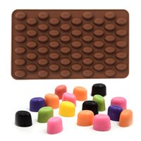 baking cocoa - 55 Mini Holes Cocoa Coffee Bean Silicone Mould Cake Chocolate Jelly Candy Soap Baking Mold Cake Tools ZH01101