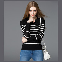Wholesale Mara Ka La Couture new winter sweater slim color stripe long sleeved and nice Pullover Sweater