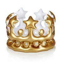 Wholesale DHDL Inflatable Gold Crown King Queen The Day Costume Party Halloween Birthday Decor