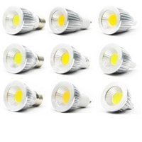 COB GU10 Led 5W 7W 9W ampoules dimmable E27 E26 E14 MR16 a conduit des projecteurs chaud / pur / cool blanc 110-240V 12V CE ROHS