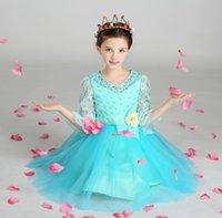 Acheter Nouvelle filles vêtements-Nouveautés 2017 Filles Robes Enfants Dentelle Brodée Organza Princesse Habillement Vêtements Costumes Evénements Mariage Robes Boutique Vêtements