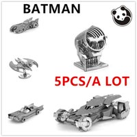 animal etchings - Pandamodel Chinese Metal Earth BATMAN All a D Metal model etching Puzzles DAWN OF JUSTICE BATMOBILE creative gifts