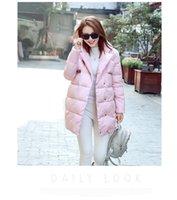 Wholesale winter coat Women Loose Red Long Down jacket coat Parka cotton jacket Outwear