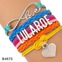 aqua pieces - Pieces Infinity Love Lularoe Heart Charm Wrap Bracelet Hot Pink Aqua Orange Multilayer Leather Cuff Wrist Band Jewelry