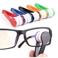 La limpieza de lentes de gafas Baratos-2017 Los lentes superventas del limpiador de la microfibra de la lente de las gafas de los anteojos de la lente esencial limpian la herramienta