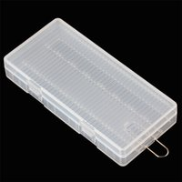 Wholesale Portable Hard Plastic Case Holder Storage Case Box for x AA Batteries with Hook Holder