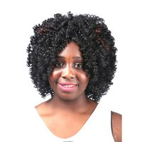 beautiful naturally wigs - African Women s fashion wig naturally curly hair this is very beautiful the quality is very good Machine making wig