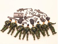 action figures army - 8pcs A Set Gi Joe Military Soldiers Army Action Figure Toy Doll And Weapons