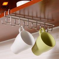 Wholesale Stainless Steel Kitchen Storage Rack Cupboard Hanging Hook Shelf Dish Hanger Chest Storage shelf Bathroom Organizer Holder