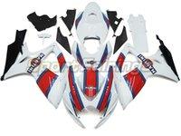 Wholesale New Decals Complete Fairing Kits For Suzuki GSXR600 GSXR750 K6 ABS Plastic Motorcycle Fairings Bodywork nice red blue white