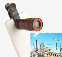 al por mayor 12x zoom móvil-El más nuevo 8X 12X Zoom Celular Cámara Telescopio Móvil Lente Telefoto Lente de cámara externa para teléfono móvil Long Focal Lens