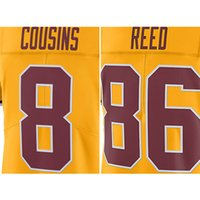 Wholesale Men s Kirk Cousins Jordan Reed embroidery logo Gold Color Rush Limited Jersey