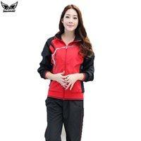 Wholesale Coat Pant Stand Collar - Wholesale-MADHERO women's clothing sports running coat + pants elastic breathable zipper stand collar running jacket sets plus size M-3XL
