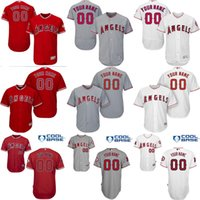 achat en gros de maillot albert pujols-Custom Los Angeles Angels d'Anaheim 27 Mike Trout 5 Albert Pujols 6 yunel escobar 2 Simmons 16 street Baseball Jersey Taille cousue S-4XL