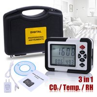 air carbon dioxide - cm LCD with Backlight ppm Carbon Dioxide CO2 Monitor Detector Air Temperature Humidity Data Logger