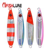 Afishlure Long Shot Медленная тонущая приманка Металлическая пластина Lead Jig 30г Рыболовная приманка Многоцветная пресноводная рыба для соленой воды