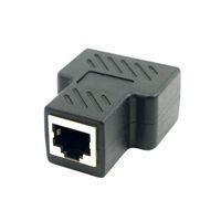 Wholesale New UT Cat6 RJ45 P8C to Dual RJ45 Splitter Network Adapter Black