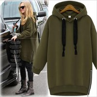 Wholesale 2016 New Arrived Women s plus size long sleeve pullover hoodies woollen sweater two color