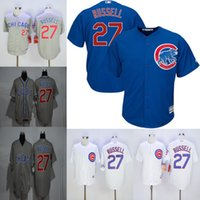 Wholesale Chicago Cubs Jerseys Mens Addison Russell Gray Blue White Baseball Jersey Price Fast Shipping Embroidery Logos