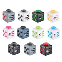 Wholesale 11 colors New novelty Fidget Cube stress relief toys for kids and adults Decompression stress ball wisdom development toy