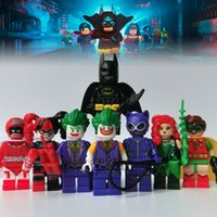 Unisex action figures batman lot - 2017 Batman movie action Figures toys Set Joker Harley Quinn Robin Building Block Toy minitoy