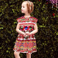 baby family - Baby Girls Dress Family Matching Clothes Mother Daughter Dresses Kids Clothes with Majolica Print Women Dress Princess Vestido Menina