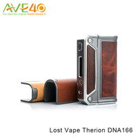 al por mayor vatios inteligentes-Auténtico Lost Vape Therion DNA166 Caja Mod 166 Watt TC Box Mod con Smart OLED Display Fit Dual 18650 Cells