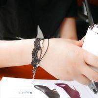 Wholesale Hot Selling Ou Mu Tu Korean fashion new ladies retro lace bracelet pentacle pendant jewelry