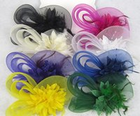 Wholesale New European Style Veil Feather Women Hair Accessories Fascinator Hat Cocktail Party Wedding Headpiece Court Headwear Lady