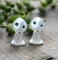 alien miniatures - 5pcs Mini Spirited Away White Ghost Alien Resin Carft Potting Decoration Fairy Garden Terrarium Miniatures Bonsai Mosses Faux Turf