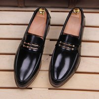 Wholesale 2016 New Casual Mens Shoes Breathable Vintage pu Leather Pointed Toe Shoes For Men Italian Luxury Design Shoes