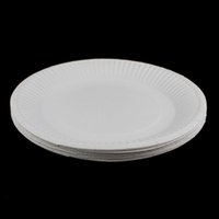 Wholesale Disposable Party white Paper Plates for Home Party Decoration Supplies people use Kids Birthday Party supplies