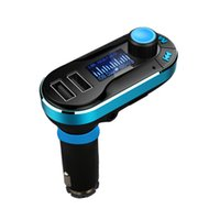 Wholesale Car MP3 music player dual USB for charging iPod iPhone Samsung iPad Nokia and other mobile devices need to insert U disk TF card