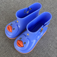 Wholesale 2017 Mini Melissa cartoon Children Rain Ducks Lucky Baby Rain Boots Baby Girls Melissa Rain Boots Toddlers Boots Water jelly Shoes Anti Skid