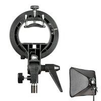 Grossiste-Haute qualité PRO Godox S-Type de support de la caméra Bowens Mount Holder pour Speedlite Flash Snoot Softbox Noir