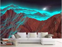 Wandmalerei Natur 3d Preise Benutzerdefinierte Foto Wandmalerei Wallpaper Für  Wände 3 D HD Nacht Berg