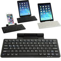 Wholesale Bluetooth Wireless Keyboard KB for iPad iPhone Android Sumsung with Retail Packaging