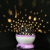 Wholesale Romantic Decoration Sleep Light Rotation Star Sky Projector Luminous Lamp for Kids Halloween Christmas Birthday Gift