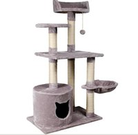 Wholesale Medium sized cat toy cat jumping Tree Cat House cloth bag Hammock toy accessories