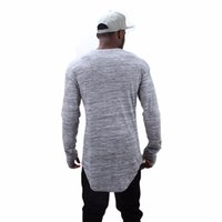 Wholesale HEYGUYS extend hip hop street T shirt fashion brand t shirts men summer long sleeve oversize design hold hand