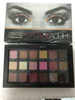 Wholesale HUDA Beauty colors Shimmer Matte Eyeshadow Palette Pro Eyes Makeup Cosmetics by DHL Free