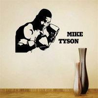 art mike - 85x130cm Mike Tyson Portrait Boxing Sport Vinyl Wall Stickers Removable Art Mural for Home Decoration Kids Bedroom