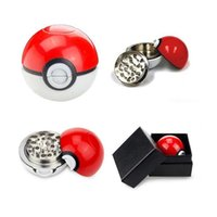 Wholesale New Arrivals Pokeball Grinder Poke Grinders Herb Grinders Metal Zinc Alloy Plastic Metal Grinders Parts Grinders with Display Box DHL Free