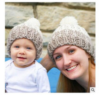 best baby hats - Winter Knitted Wool Family Hats Baby Mom Warm Hats Baby Boys Girls Parent Children Hats Caps Kids Crochet beanies Best Christmas Gifts