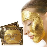 acid gel - Popular Hot Collagen Gel Face Mask Contains Hylauronic Acid K Gold d Silk Face Care ZA2111