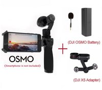 Wholesale 100 New Original DJI OSMO Handheld Axis Gimbal and K HD ZENMUSE X3 Camera Set Gift DJI FM Flexi Microphone DHL EMS Free