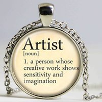 artist dictionary - Artist necklace vintage dictionary definition of Artist word pendant word Artist jewelry glass Cabochon Necklace